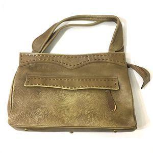 JUSTIN Vintage Tan Leather Handbag